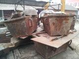 小型电炉(1吨)电炉炉壳,渣盆,料斗,电极夹头,炉壳倾动减速箱