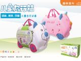 宝宝旅行箱动物滑行车 儿童行李箱童车 儿童收纳箱童车