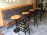 厂家直销西餐厅沙发咖啡厅桌椅甜品店桌子