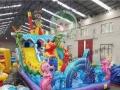 夏天啦水上儿童乐园水滑梯来啦 大闹龙宫充气城堡 变色龙气包