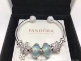 PANDORA潘多拉925银手链手镯立方氧化锆石