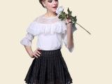 2015春夏新款上衣代理加盟纯色公主蕾丝衫淘宝货源批发