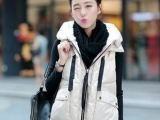 欧洲站秋冬款潮韩国女装 宽松无袖马夹外套军工装羽绒服马甲外套