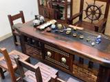 肇庆船板茶桌椅组合老船木茶桌茶台整装家用功夫茶几泡茶台