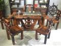 张家界市老船木茶桌椅子仿古茶台实木沙发茶几餐桌办公桌家具架子