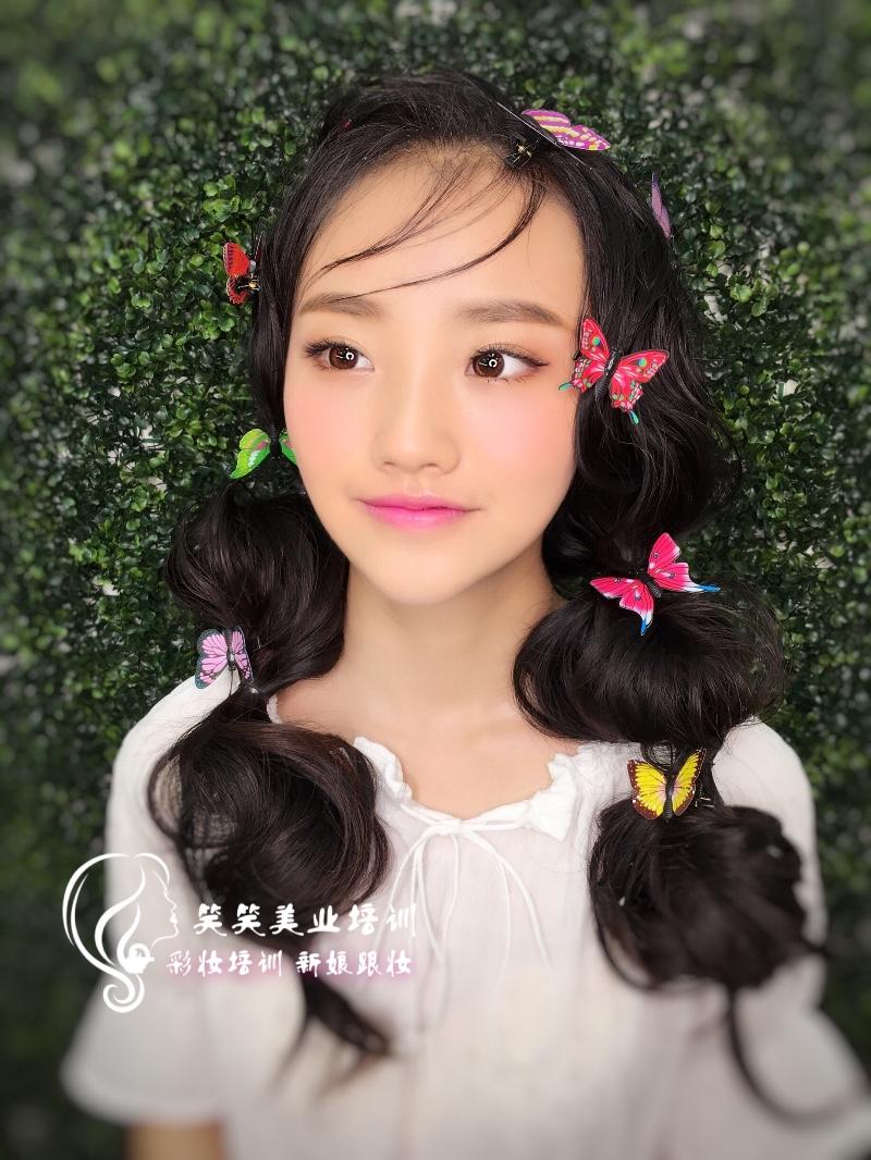 邓州哪儿有学化妆的 新娘跟妆 化妆培训