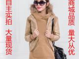 新款秋冬棉衣女韩版两件套修身显瘦外套马甲加卫衣