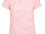 2014新女夏装雪纺蕾丝拼接短袖衬衫2141014170支持代发