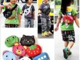 日本原单儿童单肩包 超萌可爱立体卡通小孩腰包 男女宝宝斜跨胸包