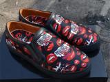 欧洲站春季新款男鞋PP红嘴印花板鞋运动休闲男单鞋时尚潮流男鞋