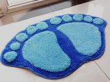 T可爱植绒脚丫地垫 地毯 吸水防滑浴室垫 入门口垫 百货批发 2