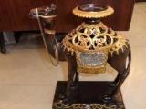 仿古贴钻精美树脂骆驼烛台摆件量大从优