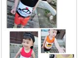 儿童背心 夏装2015新款韩版纯棉卡通汽车宝宝吊带衫夏季男童T恤
