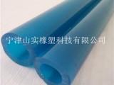 山实蓝色花园水管PU软管 机械装饰蓝色塑料管 液体输送全塑管