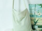 厂家直销帆布包斜挎女条纹日系MUJI风文艺学生清新学院风一件代发