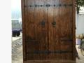 老榆木双开别墅实木大门 室内实木大门套装双开实木门厂家直销