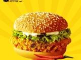 7080腿肉汉堡肉腌制腿肉香辣口味原味油炸汉堡肉批发