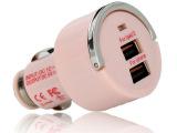 厂家直销供应 足3.1A 彩色单USB口车充 iphone苹果车