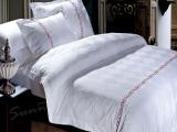 酒店布草 客房床上用品 简约时尚系列床罩枕套 厂家定制