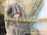 厂家直销金银丝机织花边刺绣珠片花边服装辅料亮片花边