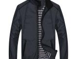 批发整单2014春秋新款爆款男装夹克男士立领修身单衣男士春季外套