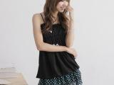 韩版 夏季 甜美公主半身裙 点点网纱蛋糕裙雪纺迷你短裙子8337