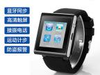 新款2014蓝牙安卓全触屏可插卡拍照智能手表手机穿戴设备手环腕表