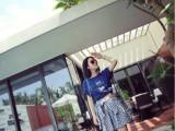 2014夏装新款韩版少女短裙甜美小格子绑带高腰短裙