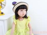 夏天儿童防晒帽子米奇造型草帽宝宝帽子女童男童夏凉帽批发