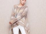 毛衣外套女 新品长袖宽松头瘦针织衫女 中长款蝙蝠衫 毛衣外套女