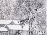 中国山水风景画著名大师-吴优