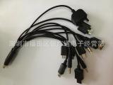 优势批发一拖十数据线 十合一充电线 加粗圆线1拖10 USB数据