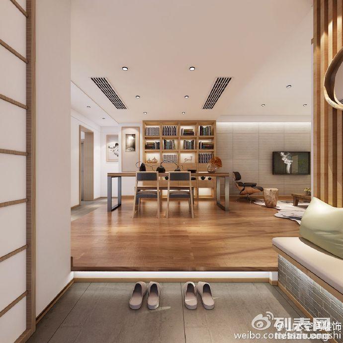 山水装饰婚房装修设计日式风格