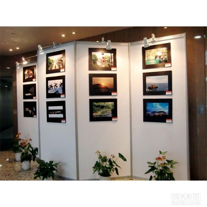 书画作品展板展架搭建 北京挂画围挡搭建摄影展板租赁