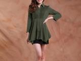 2013春夏装新款女装韩版衬衣 修身显瘦时尚休闲大码七分袖衬衫女