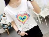 韩版夏季新款印花短袖t恤女装宽松气质百搭学生短款体恤