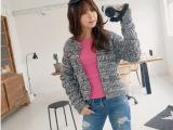 韩国东大门秋冬装新款混线毛纱潮流复古百搭针织毛衣外套