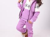 秋款童装女童秋装2013新款儿童加厚大卫衣套装宝宝冬装运动三件套