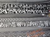 加厚纯棉印花帆窗帘桌布沙发罩抱枕手工DIY背景布围裙黑白经典款