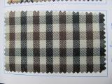 《厂家直销》现货色织格子布化纤环保pe涂层布厂家 格子箱包面料