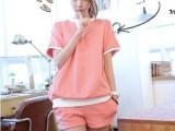 供应 韩国代购 套装 韩国东大门 套装 运动休闲T恤短裤套装