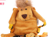 时尚小巧儿童防走失背包 卡通小狮子动物儿童背包 厂家直销