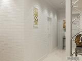 厂家直销白色发泡立体砖纹墙纸 服装店面影楼砖块壁纸 PVC工程纸