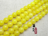 晶之灵水晶 DIY饰品配件 天然黄玛瑙半成品 散珠 玛瑙圆珠批发