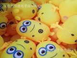 2014爆款儿童发光发泄玩具小号小黄人奶爸硅胶弹力闪光毛毛球