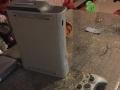 转让自用xbox360游戏机2手柄带体感摄像头双破