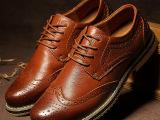 秋冬新款男鞋真皮布洛克雕花男士单鞋英伦个性潮流鞋子可代发混批