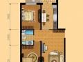 经区蒿泊 滨海龙城复式公寓 一室一厅一卫 70平精装家电齐全