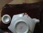 白色六角梅花茶壶