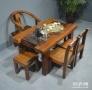 泉州市老船木茶桌椅子仿古茶台实木沙发茶几餐桌办公桌家具博古架